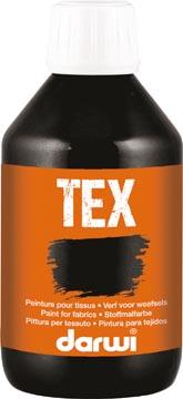 Darwi textielverf Tex, 250 ml, zwart