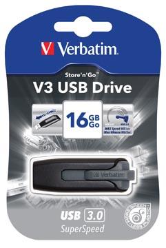 Verbatim V3 USB 3.0 stick, 16 GB, zwart