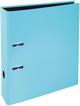 Exacompta Aquarel ordner uit karton met gecoat papier, ft A4, rug van 8 cm, pastelblauw