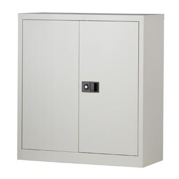 Bisley draaideurkast, ft 100 x 91,4 x 40 cm (h x b x d), 1 legbord, grijs